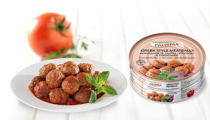 Greek Style Meatballs, Meatballs in tomato & onion sauce