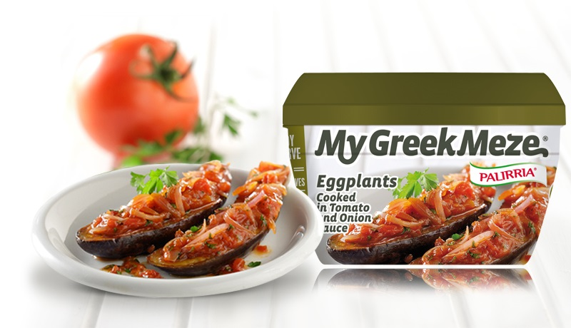 Eggplants cooked in tomato & onion sauce