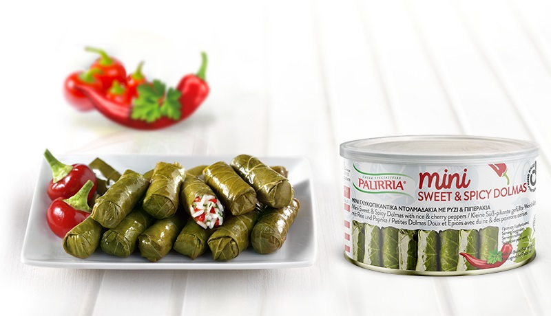 Mini Sweet & Spicy Dolmas - Mini sweet & spicy dolmas with rice & cherry peppers