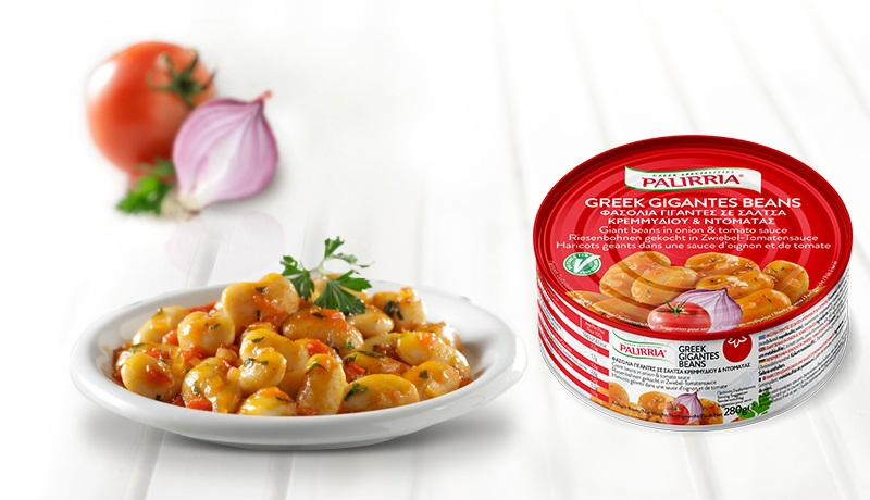 Greek Gigantes Beans, Giant beans in onion & tomato sauce