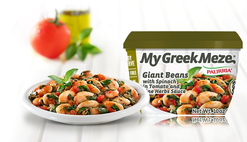 Giant Beans with Spinach in Tomato and Fine Herbs Sauce