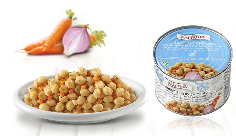 Greek islands chickpeas, Chickpeas with onions and carrots in lemon sauce
