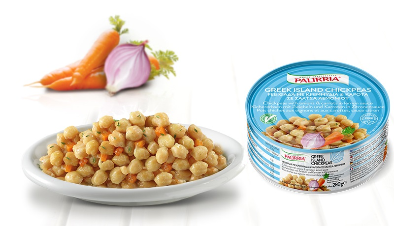 Greek Island Chickpeas, Chickpeas with onions & carrots in lemon sauce