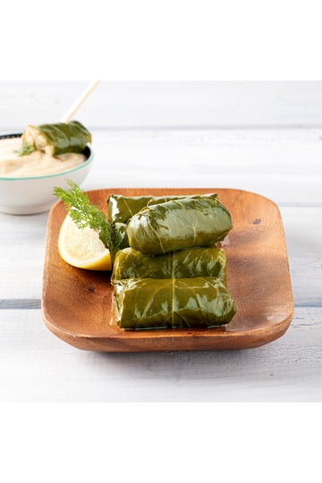 Greek Dolmas with Tahini Dip