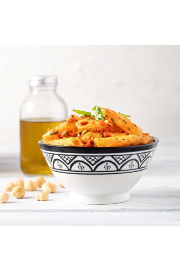 Red Pepper Pesto with Whole Penne