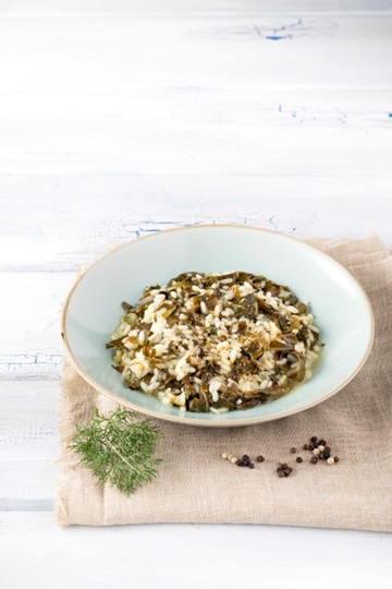 Risotto with Vine Leaves