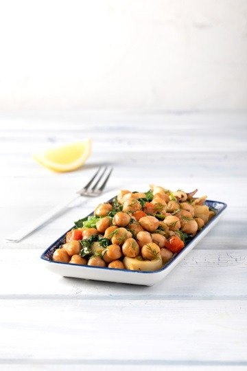 Fricassee Cuttlefish with Greek Island Chickpeas