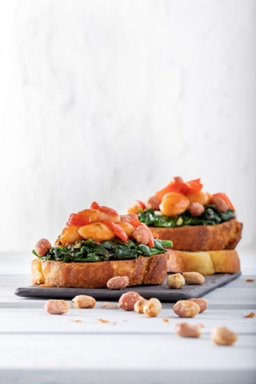 Giant Beans with Spinach & Peanut