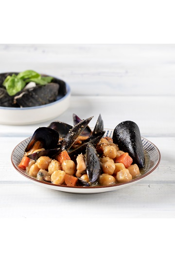 Greek Island Chickpeas with Mussels