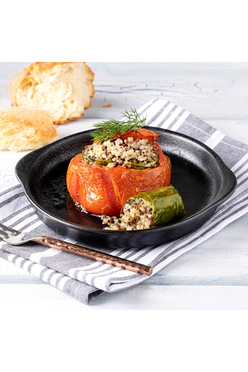 Tomatoes Stuffed with Quinoa Dolmas